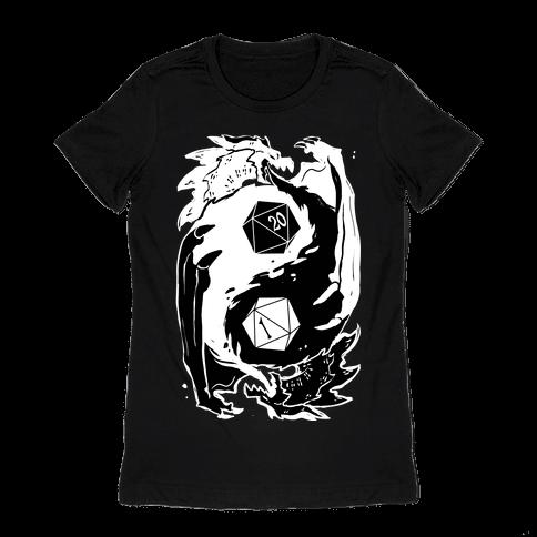 Dungeons and Dragons Yin Yang Womens T-Shirt