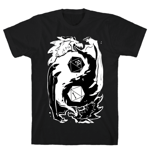 Dungeons and Dragons Yin Yang Mens/Unisex T-Shirt