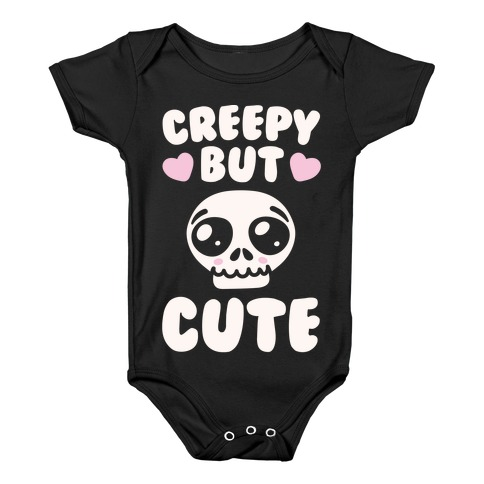 daa0410c1 Creepy But Cute White Print Baby One-Piece
