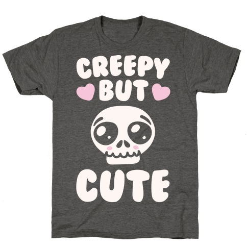 Creepy But Cute White Print T-Shirt