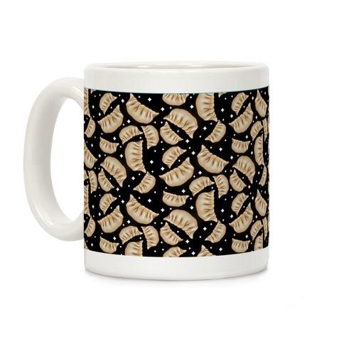 Dumplings Pattern Black Coffee Mug