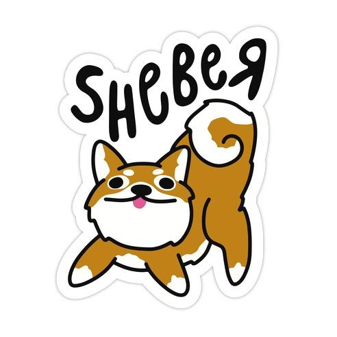 Sheber Derpy Shiba Die Cut Sticker