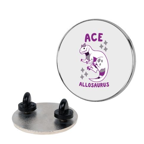 Ace Allosaurus Pin