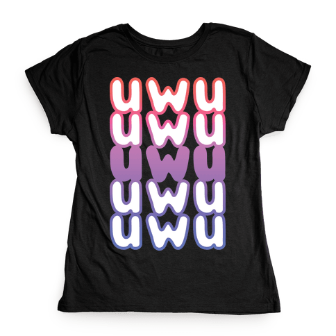 UWU Anime Emoticon Face Womens T-Shirt