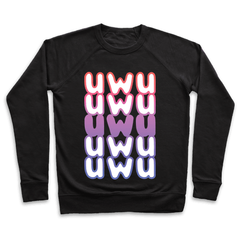 UWU Anime Emoticon Face Pullover
