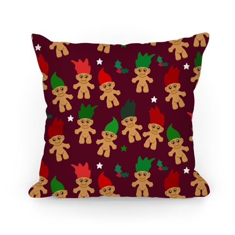 Christmas Trolls Pattern Pillow