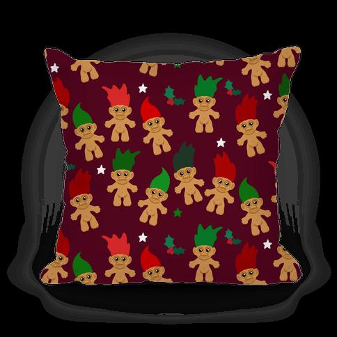 Christmas Trolls Pattern Pillow