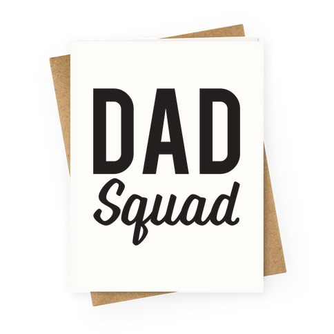 Sports greeting cards lookhuman dad squad greeting card m4hsunfo