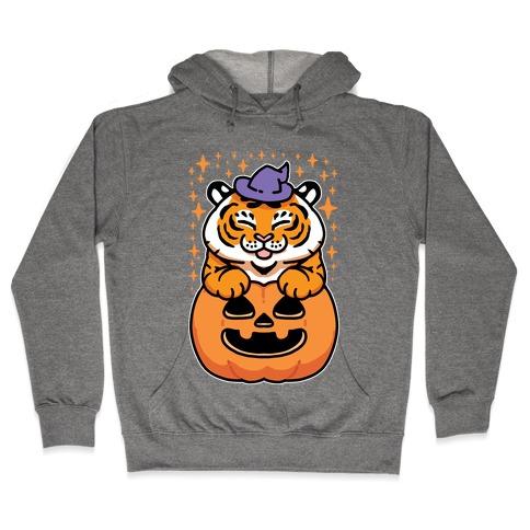 Cute Halloween Tiger Hooded Sweatshirt