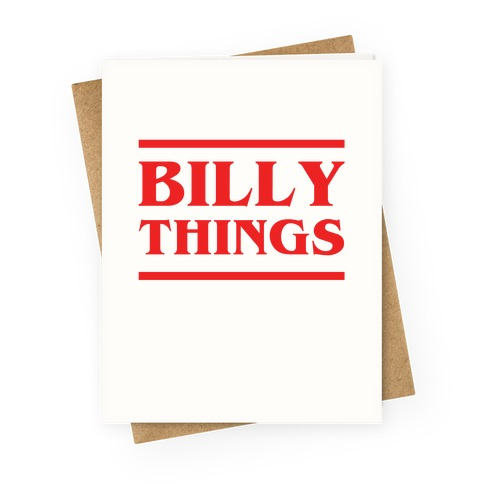 Billy Things Greeting Card