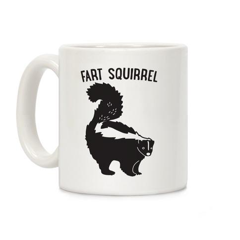 Fart Squirrel Skunk Coffee Mug
