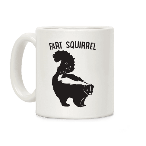 Fart Squirrel Skunk Coffee Mug