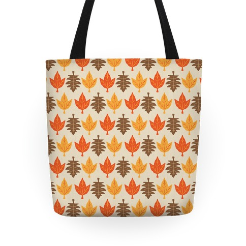Autumn Leaves Pattern Tote