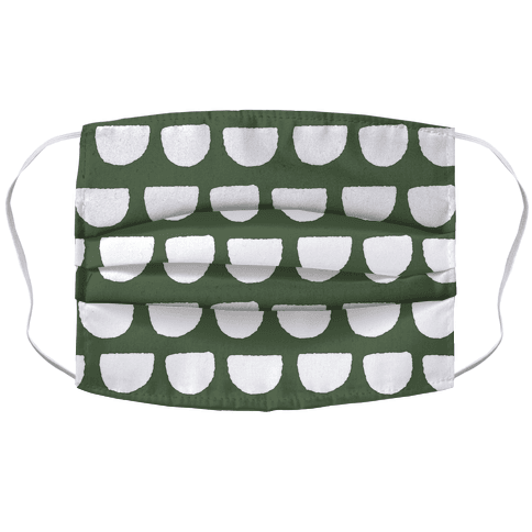 Simple Scallop Pattern Chive Green Face Mask