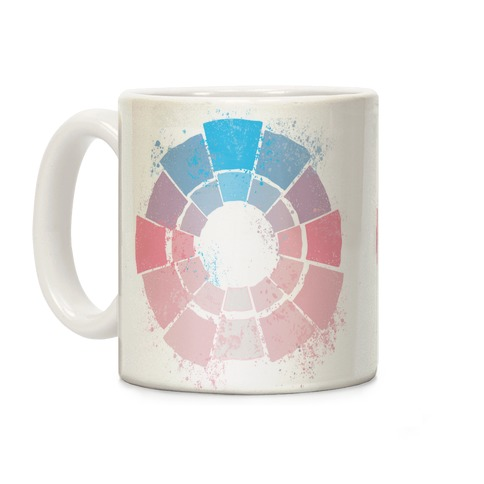 Trans Pride Color Wheel Coffee Mug