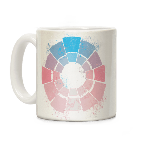 Trans Pride Color Wheel Coffee Mug