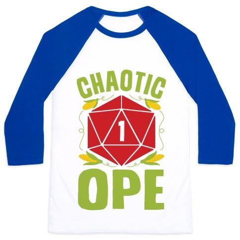 Chaotic Ope Baseball Tee