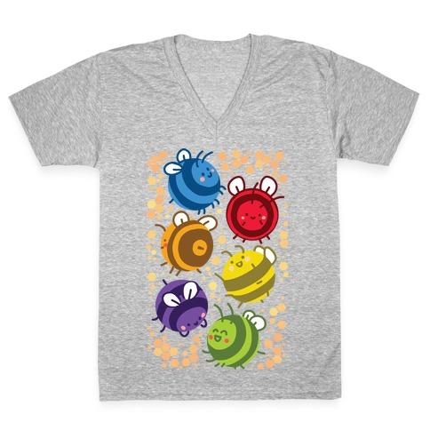 Orb Bees V-Neck Tee Shirt