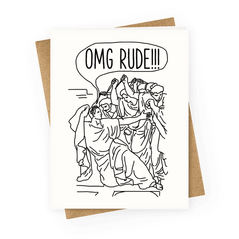 Death Of Caesar Greeting Card