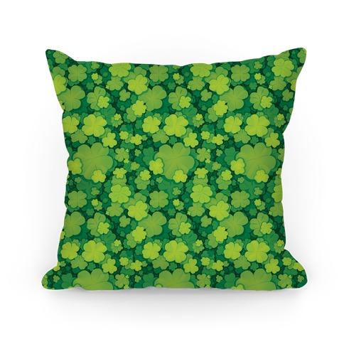 Clover Patch Pattern Pillow
