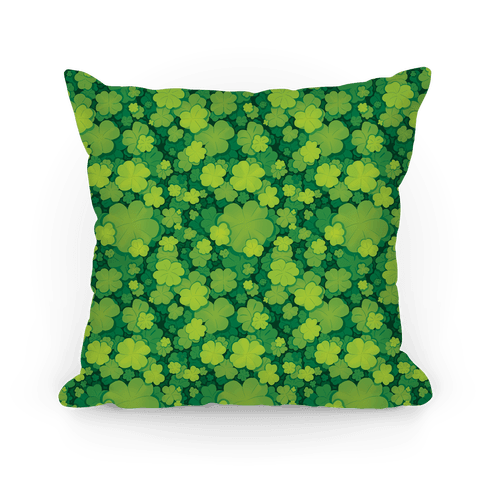 Clover Patch Pattern Pillow