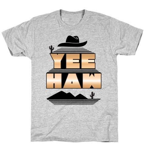 Retro 80s Yee Haw Mens/Unisex T-Shirt