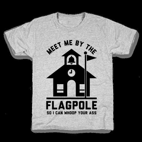 Meet Me By The Flagpole Kids T-Shirt
