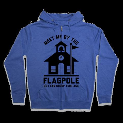 Meet Me By The Flagpole Zip Hoodie