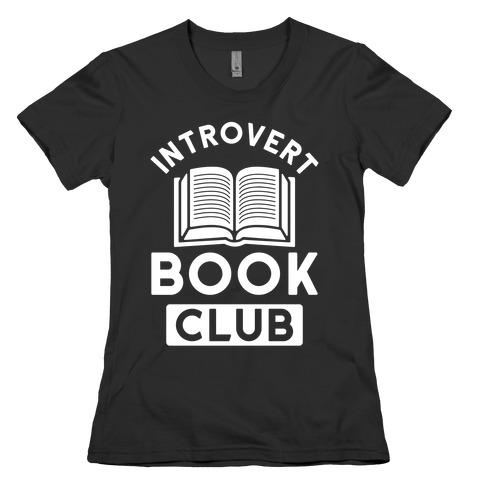 Introvert Book Club Womens T-Shirt