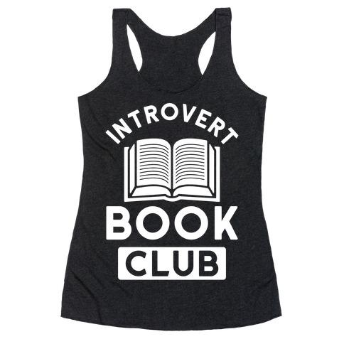 Introvert Book Club Racerback Tank Top