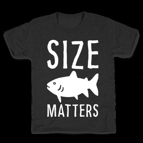 Size Matters Fishing Kids T-Shirt
