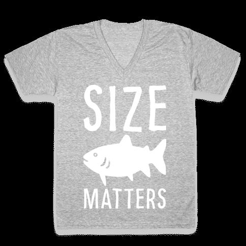 Size Matters Fishing V-Neck Tee Shirt