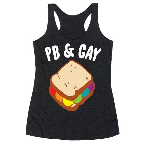 PB & GAY Racerback Tank Top