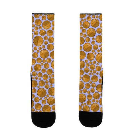 Basketballs Pattern Sock