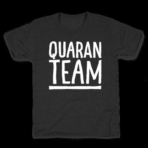 Quaranteam White Print Kids T-Shirt