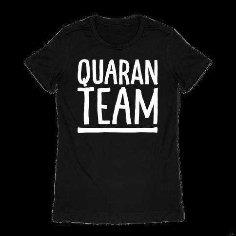 Quaranteam White Print Womens T-Shirt