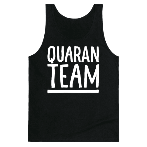 Quaranteam White Print Tank Top
