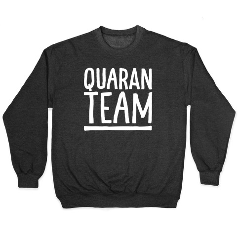Quaranteam White Print Pullover