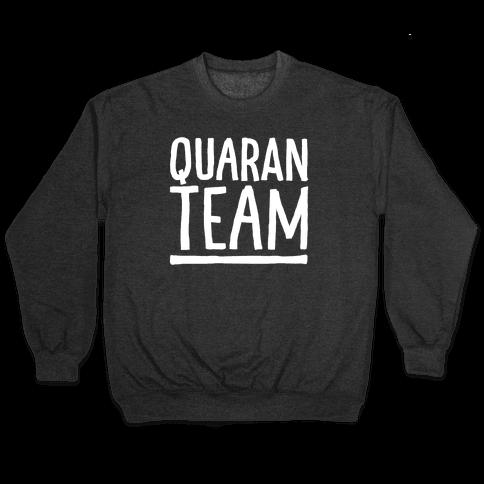 Quaranteam White Print Pullover