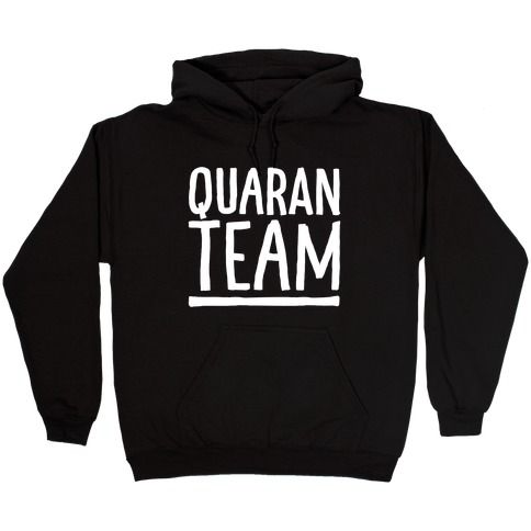 Quaranteam White Print Hooded Sweatshirt