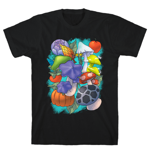 Hylian Shrooms and Veggies Mens T-Shirt