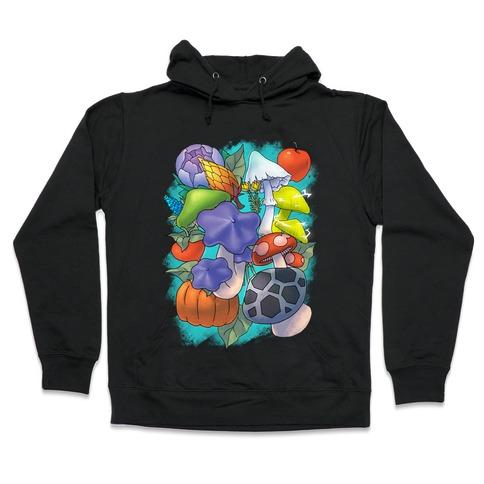 Hylian Shrooms and Veggies Hooded Sweatshirt