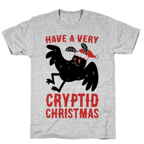 Have a Very Cryptid Christmas - Mothman T-Shirt
