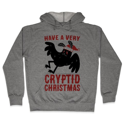 Have a Very Cryptid Christmas - Mothman Hooded Sweatshirt