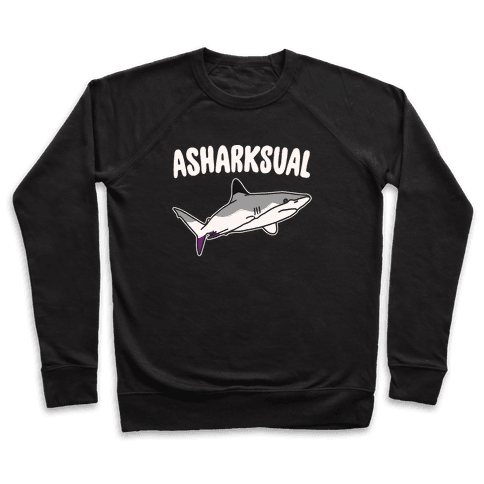 Asharksual White Print Pullover