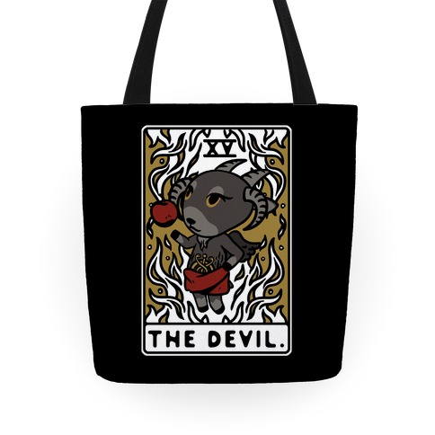 The Devil Tarot Card Animal Crossing Parody Tote