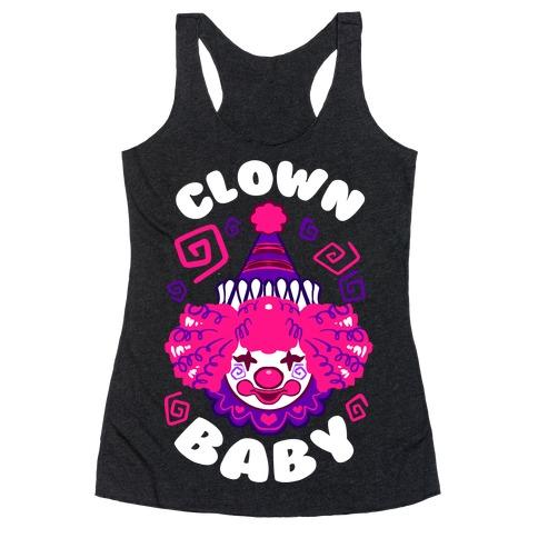Clown Baby Racerback Tank Top