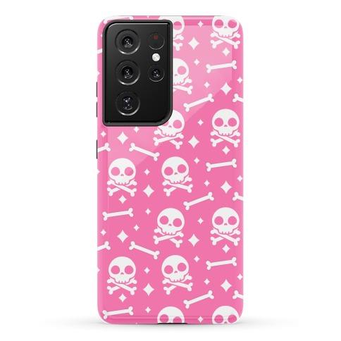 Cute Skull N' Bones Pattern (Pink) Phone Case