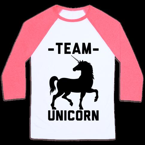 Team Unicorn Baseball Tee