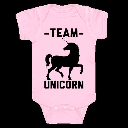 Team Unicorn Baby Onesy